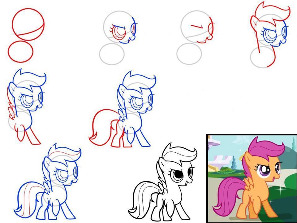 Как рисовать пони с пони вилли