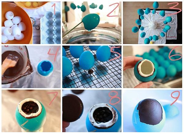 Как сделать шоколадные яйца в домашних условиях